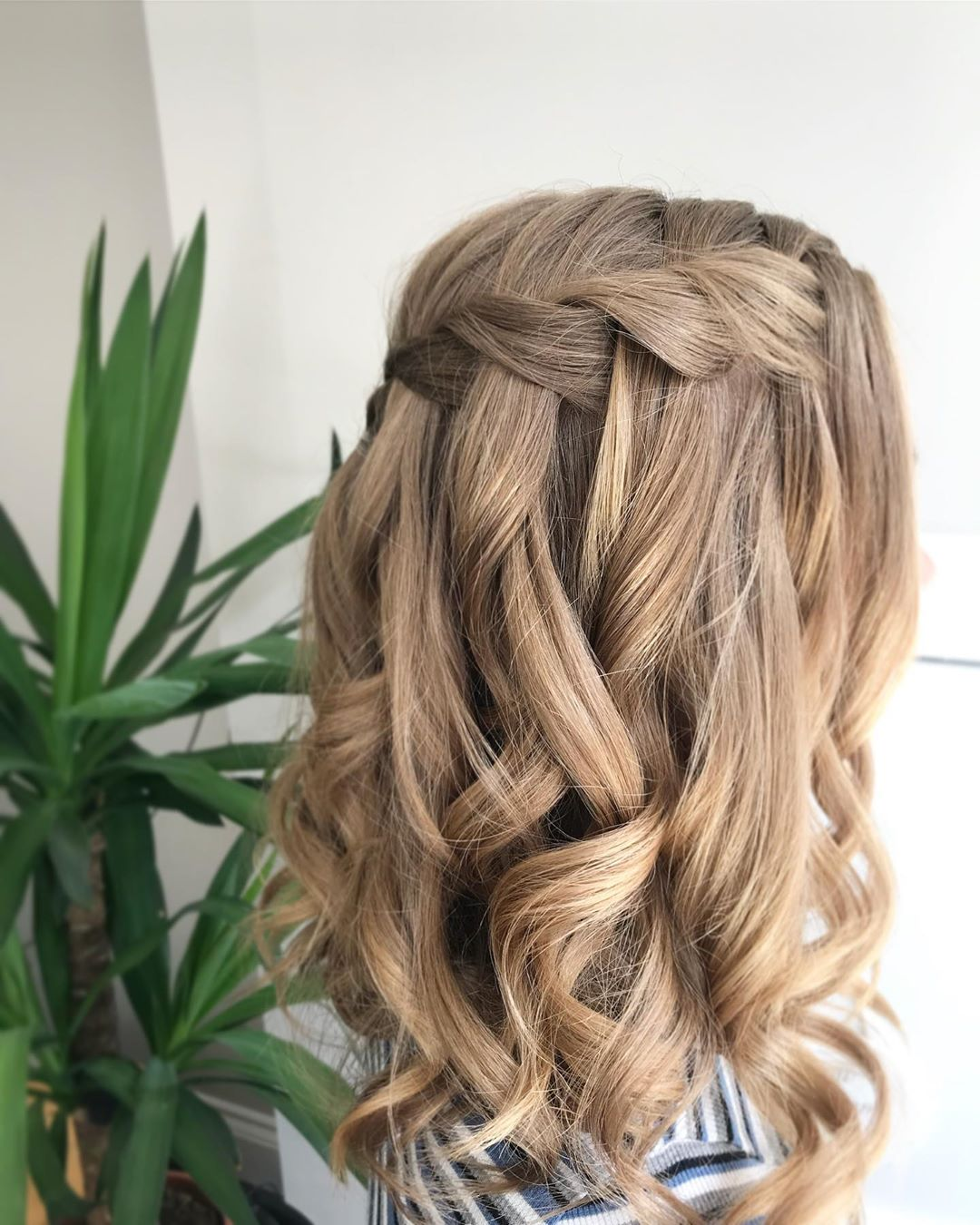 Waterfall Braid Hairstyles: 25 Gorgeous Short Up-Dos To Try In Your Next Wedding