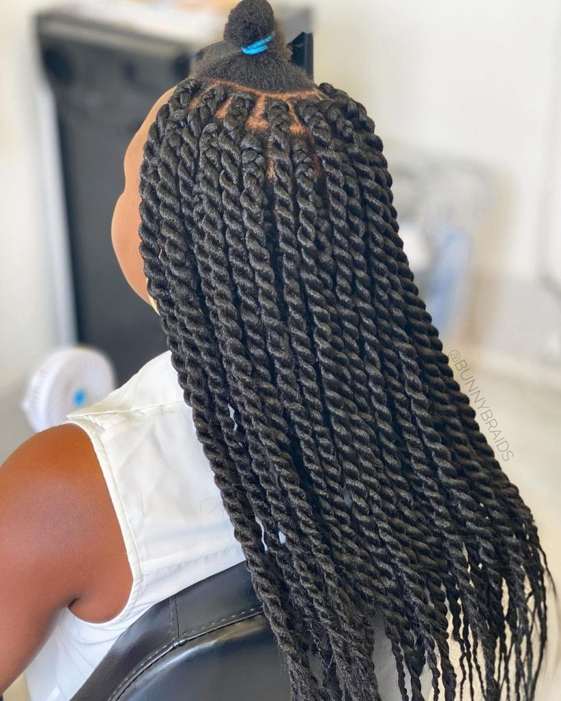 These simple Senegalese twists are beautiful to wear
